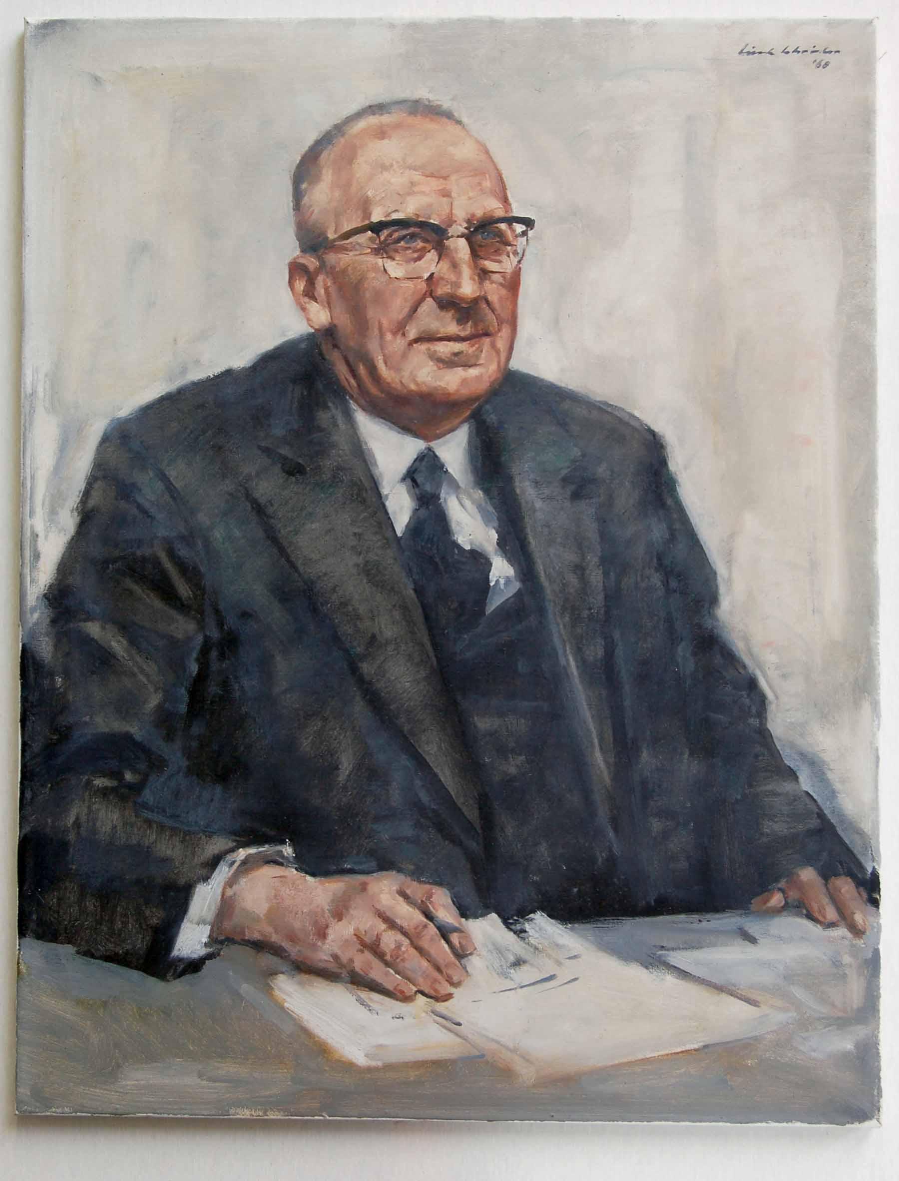 Portret van Piet Blijenburg