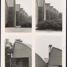 Vier foto's van westgevel Weverij De Ploeg - Pictura (fotografie), onbekend
