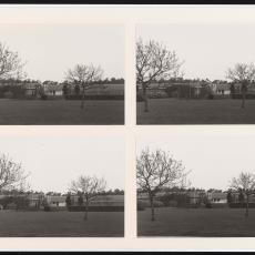 Vier foto's van Ploegpark en zuidgevel Weverij De Ploeg - onbekend, Pictura (fotografie)