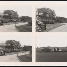 Vier foto's entreegebied Weverij De Ploeg en Ploegpark - Pictura (fotografie), onbekend