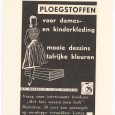 Advertentie van Weverij De Ploeg - onbekend, Pictura (fotografie)