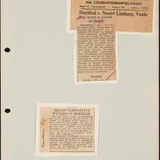 Krantenartikelen uit de Maasbode en het Dagblad van Noord-Limburg, Venlo (mei 1956) - Pictura (fotografie)