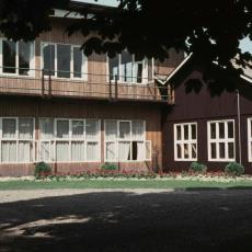 Achterzijde voormalige notariswoning Hof 63 Bergeijk - Pictura (fotografie), onbekend