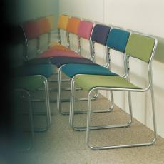 Stoelen se09 met gestoffeerde zitting en rug in verschillende kleuren - onbekend, Pictura (fotografie)