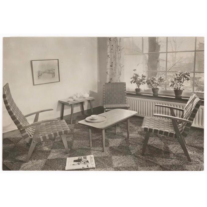 Interieur woonkamer begin jaren 39 50 for Interieur 60er jaren
