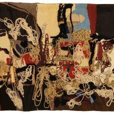 Wandkleed 'Zonder titel' - kunstenaar, Anna Verwey-Verschuure