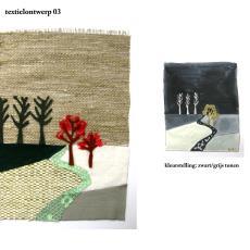 Ontwerp voor wandkleed 'Herinneringen aan vergezichten' (03) - kunstenaar, Kiki van Eijk