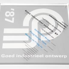Oorkonde 'goed industrieel ontwerp '87' gordijnstof Rodin Weverij De Ploeg - Donders, Camiel, Stichting Industrieel Ontwerpen Nederland (ioN)