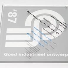 Oorkonde 'goed industrieel ontwerp '87' gordijnstof Colorado Weverij De Ploeg - Donders, Camiel, Stichting Industrieel Ontwerpen Nederland (ioN)
