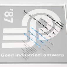 Oorkonde 'Goed industrieel ontwerp '87' voor meubelstof Kolibri Weverij De Ploeg - Stichting Industrieel Ontwerpen Nederland (ioN), Donders, Camiel