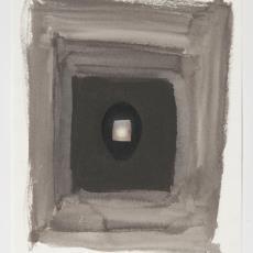 Ontwerptekening met donkergrijze rechthoek en zwarte vulling - Donders, Camiel, Weverij De Ploeg (Bergeijk)