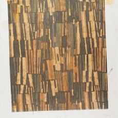 Ontwerptekening 'Melodie' met horizontale balken in camouflagekleuren - Donders, Camiel, Donders, Camiel, Weverij De Ploeg (Bergeijk), Daniel & Dagmar Duquesne