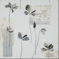 Ontwerptekening met gestileerde bloemen op stelen - Donders, Camiel, Donders, Camiel, Weverij De Ploeg (Bergeijk)