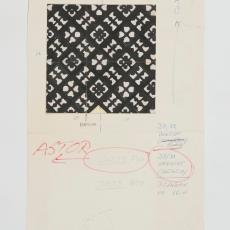 Ontwerptekening 'Astor' - Weverij De Ploeg (Bergeijk), Paul Squires