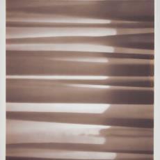 Ontwerptekening met de suggestie van gordijn waarop licht schijnt - Weverij De Ploeg (Bergeijk), Donders, Camiel