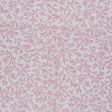 Stofstaal katoenen stof uit 'Multifesta-reeks' met fijn dessin van kleine takjes, op een effen fond - Vlisco (Helmond), Frans Dijkmeijer, Weverij De Ploeg (Bergeijk)