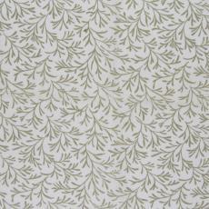Stofstaal katoenen stof uit 'Multifesta-reeks' met fijn dessin van kleine takjes, op een effen fond - Frans Dijkmeijer, Weverij De Ploeg (Bergeijk), Vlisco (Helmond)