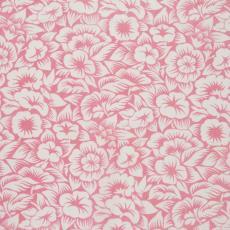 Stofstaal katoenen stof uit 'Multifesta-reeks' met dessin van bloemen met bladen, met schaduwwerking - Frans Dijkmeijer, Weverij De Ploeg (Bergeijk), Vlisco (Helmond)