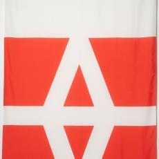 Vlag met bedrijfslogo van Weverij de Ploeg - Donders, Camiel, Dokkumer Vlaggen Centrale (Dokkum), Weverij De Ploeg (Bergeijk)