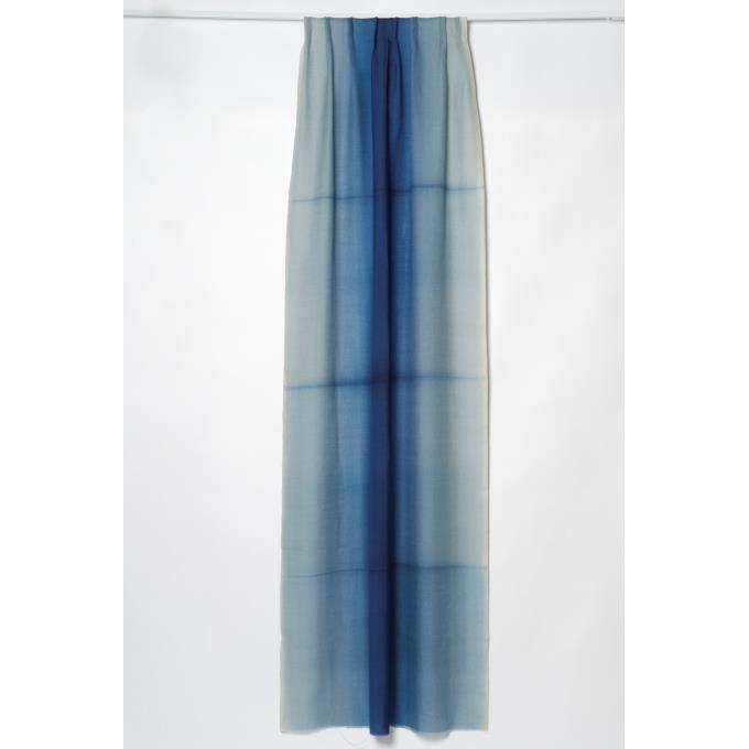 Gordijn met blauwe baan verlopend in kleur - Gordijn blauwe eend ...