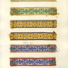 Stalenkaart met zeven stalen sierband 'Katie' - Weverij De Ploeg (Bergeijk), Stads, Jan