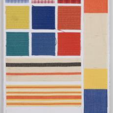 Stalenkaart dobby, colora, litorella - Donders, Camiel, Weverij De Ploeg (Bergeijk)