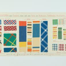 Stalenkaart 'Lichtechte Ploegstoffen' - Donders, Camiel, Weverij De Ploeg (Bergeijk), Donders, Camiel
