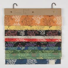 Stalenbundel kledingstof bladmotief - Weverij De Ploeg (Bergeijk), Donders, Camiel, Palthe's Textielveredelingsbedrijven (Almelo), Donders, Camiel