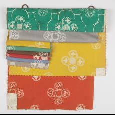 'Meldine' 9038, stalenbundel gordijnstof - Donders, Camiel, Palthe's Textielveredelingsbedrijven (Almelo), Donders, Camiel, Weverij De Ploeg (Bergeijk)