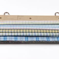 'Ruitjes', stalenbundel kledingstof - Donders, Camiel, Weverij De Ploeg (Bergeijk), Gebr. Stork & Co. (Hengelo), Donders, Camiel