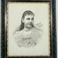 Geweven portret van prinses Wilhelmina - Weefschool Tilburg, Textielmuseum (Frans van Ameijde / Joep Vogels), Louis Meelis