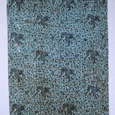 Staal-yard in de kleuren blauw, bruin, zwart (dessin 14/0511) - P.F. van Vlissingen & Co. (Helmond), Textielmuseum (Frans van Ameijde / Joep Vogels)