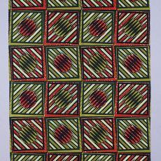 Staal-yard, meetkundige figuren, nr. 4372 - Vlisco (Helmond), Textielmuseum (Frans van Ameijde / Joep Vogels), Noud Jeurgens