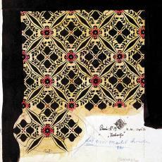 Ontwerptekening 'Vierkantjes', dessinnr. 19 - W.G.J. Ramaer & Co. (Helmond), Theodoor Nieuwenhuis, Textielmuseum (Frans van Ameijde / Joep Vogels)