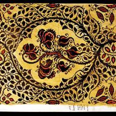 Patroontekening voor meubelbekleding 'Rozenbottels' dessinnr. 9 - W.G.J. Ramaer & Co. (Helmond), Theodoor Nieuwenhuis, Textielmuseum (Frans van Ameijde / Joep Vogels)