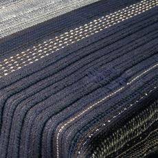 Blauw-wit tafelkleed met weefeffecten - Textielmuseum (Joep Vogels), Kitty van der Mijll Dekker (Fischer-), Handweverij en Ontwerpatelier K. v.d. Mijll Dekker (Nunspeet)