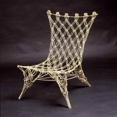 Stoel 'Knotted Chair' (prototype) - Marcel Wanders, Droog Design, Textielmuseum (Frans van Ameijde / Joep Vogels)