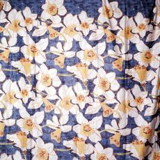 'Daffodils', dekbedovertrek met kussenslopen - Vandyck (Amersfoort), Maarten Vrolijk, Textielmuseum (Frans van Ameijde / Joep Vogels)