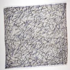 'Zonder titel (roze geknoopt)' - Marian Bijlenga, Textielmuseum (Frans van Ameijde / Joep Vogels)