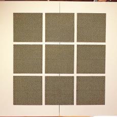 '9 Diagonaal kwadraten' - Studio kunstenaar, Ria van Eyk