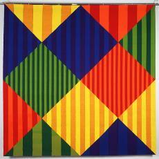 'Kwadraat en ruit - Pisces' - Nederlands Textielmuseum, Ria van Eyk