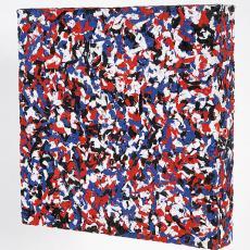 'Blok rood-wit-blauw-zwart' - Textielmuseum (Frans van Ameijde / Joep Vogels), Madeleine Bosscher, Textielmuseum