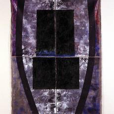 'Doodsklok (II)' (uit serie: 'Kerkhof der Onschuldigen' of 'Dans le Jardin des morts') - Textielmuseum (Frans van Ameijde / Joep Vogels), Leonne Hendriksen