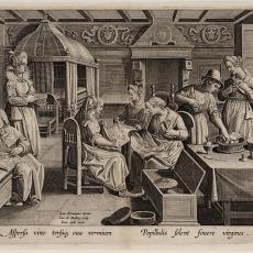 Het verzorgen van de eitjes (3/6) - Jan van der Straet (Johan Stradanus), Pictura (fotografie), Johannes Galle, Karel de Mallery