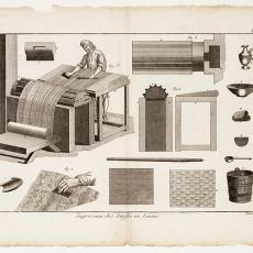 Impression des Etoffes en Laines, Pl. 3 - Robert Benard, Pictura (fotografie), Diderot et D'Alembert