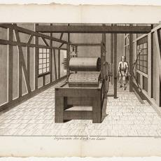 Impression des Etoffes en Laine, Pl. 4 - Robert Benard, Pictura (fotografie), Diderot et D'Alembert
