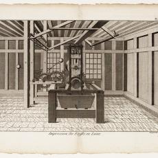 Impression des Etoffes en Laine, Pl. 5 - Robert Benard, Diderot et D'Alembert, Pictura (fotografie)