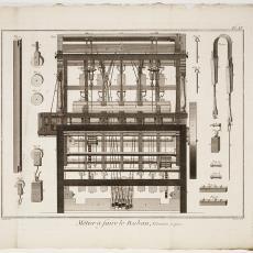 Rubanier, Mètier à faire le Ruban, Pl. 4/10 - Robert Benard, Pictura (fotografie), Diderot et D'Alembert