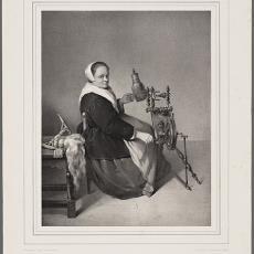 'Die Spinnerin.' - Franz Hanfstaengl, Pictura (fotografie)