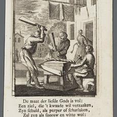 'De Wolbereider' - Pictura (fotografie), Caspar Luyken, Jan Luyken